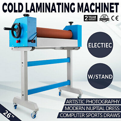 Cold Laminating Machine 26 650mm Auto/Manual Mounting With Foot Pedal 30W Motor