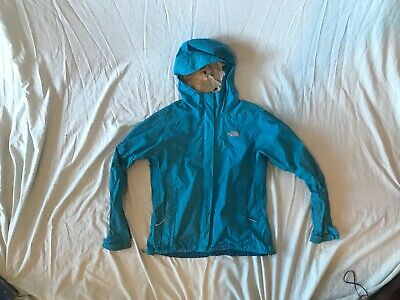 c5ebd804a WOMEN'S THE NORTH Face Blue Zip Up Hooded HyVent Rain Jacket Small ...