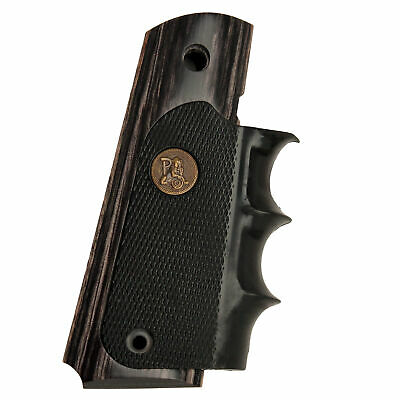 Pachmayr American Legend 1911 Full Size Grip-Charcoal Silvertone-00433