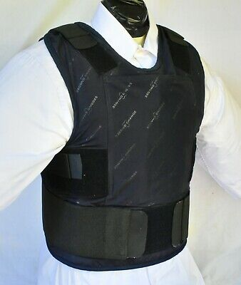 XL IIIA Lo Vis / Concealable Body Armor Carrier BulletProof Vest with Inserts