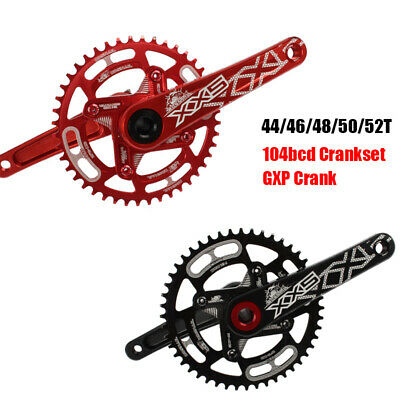 SNAIL 44/46/48/50/52T MTB Bike Crankset 104bcd Narrow Wide Chainring 170mm Crank