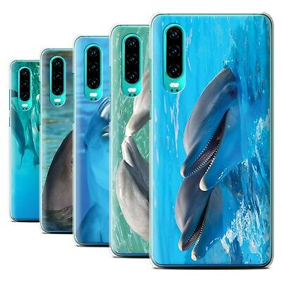 STUFF4 Phone Case/Back Cover for Huawei P30 2019 /Sea Life Dolphins
