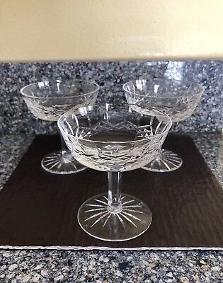 Waterford LISMORE Champagne or Sherbet Dessert Glasses EUC!