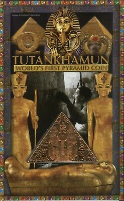 2008 Isle of Man King Tutankhamun Tomb Pharaoh Pyramid Bronze Coin BU Gift Pack