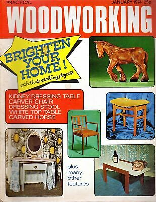 Vintage Practical Woodworking 44314 January 1974 Carved Horse