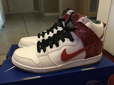 new arrival 32a6f 48ebe Nike SB Dunk High Cheech and Chong US 10 420 Brand New White Canvas Up in
