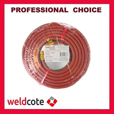 "Weldcote 25ft. X 1/4"" Grade-T Premier Twin Welding Hose for Oxigen & Propane"
