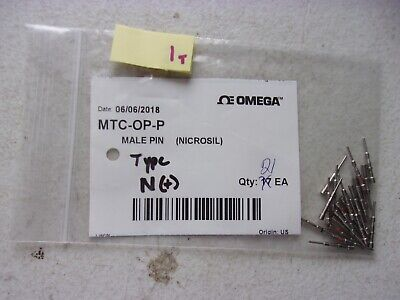 Lot Of 21 New Omega Male Pin Thermocouple Contacts Mtc-Op-P (332)