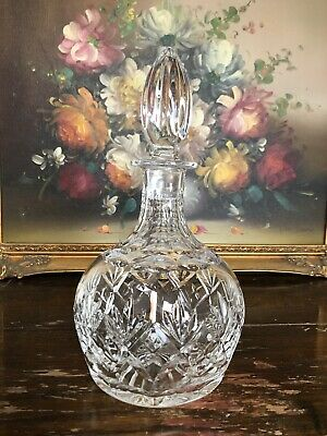 Royal Doulton Signed Georgian Crystal Cut Glass Whiskey Decanter Immaculate
