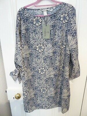 05f7162fc518 H&M William Morris and Co blue floral tunic dress size 14, new with tags