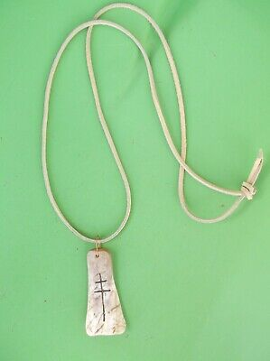 Pendant Necklace. Cross of Lorraine. French Voyageur,Rendezvous,Mountain Man.