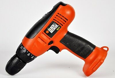 BLACK & DECKER CD9600  9.6 V Orange Cordless Drill/Driver NO BATTERY OR CHARGER