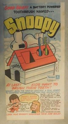 Snoopy Tooth Brush Holder Ad!  by Charles Schulz from 1970's Third Size Page !