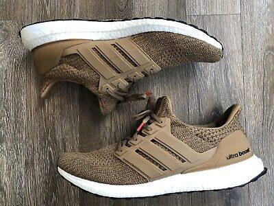 fde70a9ff9cd3  180 Adidas Ultra Boost 4.0 Raw Desert Running Shoes CM8118 Men s Size 13  USED