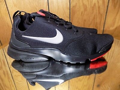 b326acef81570 NIKE PRESTO FLY Mens 908019-006 Black Red Silver Mesh Running Shoes Size 12