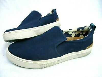 3b5d30272fd Toms Mens Size 10.5 Shoes Navy Heritage Canvas TRVL LITE Slip-ons OrthoLite  Eco