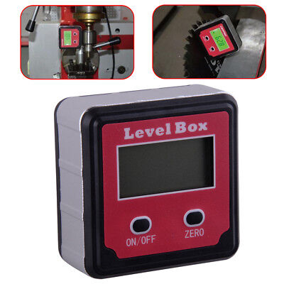 Red LCD Digital Inclinometer Level Box Protractor Angle Finder Gauge Meter Bevel