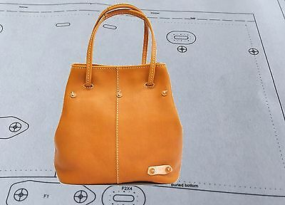 Leather Pattern DIY Designs Boston Bag Paper Sweing Template Tools 9117