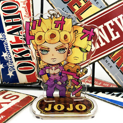 JOJO'S BIZARRE ADVENTURE: Golden Wind Giovanna Giorno Key Chain Stand Figure