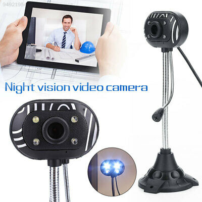 9B17 Webcam Camera Night Vision  With Mic USB 2.0 For Laptop PC Windows 7/8/10