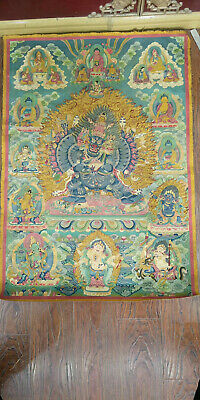 Tibet Old Thangka Painting Yamantaka Buddha