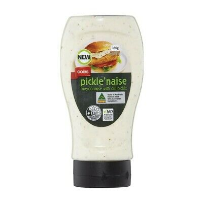 Coles Pickle'naise Mayonnaise with Dill Pickle 360g