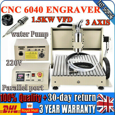 DIY CNC 6040 Router 3AXIS 1500W Engraver Engraving Milling Carver Machine UK