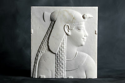 Egyptian art relief carved MARBLE plaque artist sculpture Ptolemaic Period bust