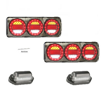 LED Custom Ute Tray 4x4 Pack: x2 Maxilamp c3XRW And 30BLM number plate Stand Out