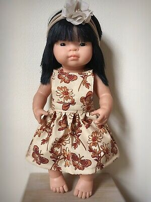 Miniland Doll Clothes 38cm Doll Pinny Dress