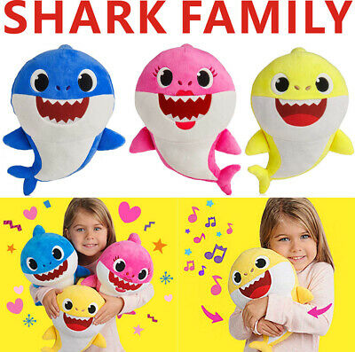 2019 Baby Shark Plush Singing Plush Toys Music Doll English Song Toy Gifts New