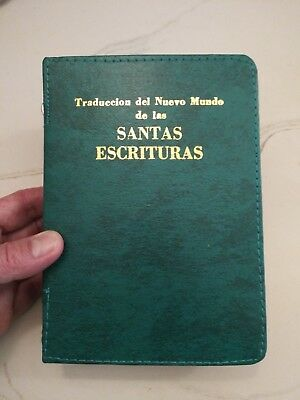 SPANISH NEW WORLD TRANSLATION BIBLE COVER, GREEN, Jehovah's Witness