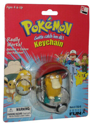 Pokemon Psyduck Basic Fun (1999) Figura Pokeball Llavero