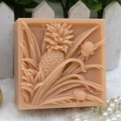 Flower Soap Molds Silicone DIY Craft Handmade Silicon Soap Bar Making Pineapple
