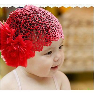 Toddler Newborn Baby Girl Lace Huge lace Flower Headband Hair Cap Band WS