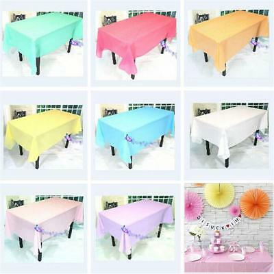 Table Cloth Colour Rectangle Cover For Wedding Birthday Party Tablecover WS