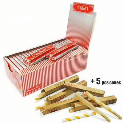 1 Box 50 Booklets Moon Red Cigarette Rolling Papers 70*36mm 2500 Leaves & Cones
