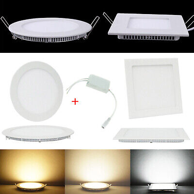 6W 27W Dimmable Epistar Recessed LED Ceiling Panel Light Down Lights White Lamp