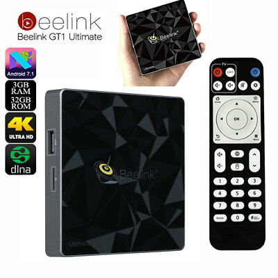 Beelink GT1 Ultimate TV Box 4K Android 7.1 3+32GB Octa Core Dual Wi-Fi Con LED