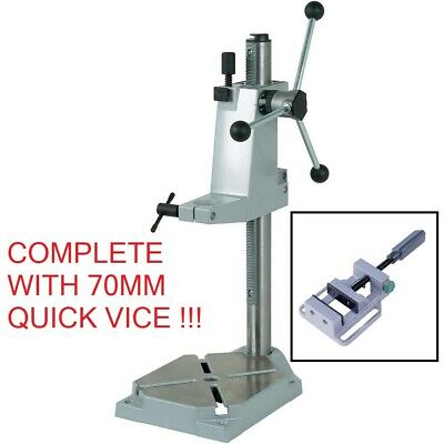Wolfcraft 502700 Drill Stand 570Mm C/W 70Mm Quick Action Vice. Super Deal !!!