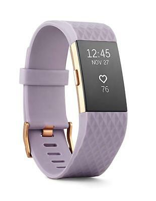 Fitbit Charge 2 HR + Fitness Wristband, Lavender Rose Gold- Large- Brand New!!!