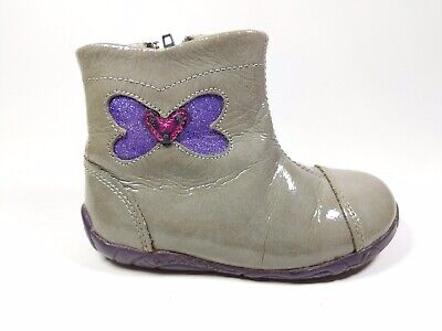 Agatha ruiz de la prada Infant Girls Grey Patent Leather Boots Uk 6 Eu 23