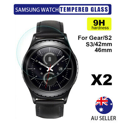 2X Tempered Glass Screen Protector Film For Samsung Galaxy Gear Watch S3/42/46mm