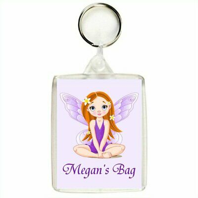 Personalised LILAC FAIRY Keyring / Bag Tag
