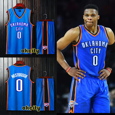 pretty nice f07fc 8044e #0 RUSSELL WESTBROOK Oklahoma City Thunder OKC Youth Child Kid Jersey  Shorts Kit