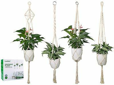Macrame Plant Hanger Handmade Woven Cotton Plant Holder Wall Hanging  4Pcs