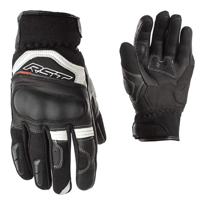 RST Urban Air 2 CE Mens Summer Textile Leather Motorcycle Gloves White Black
