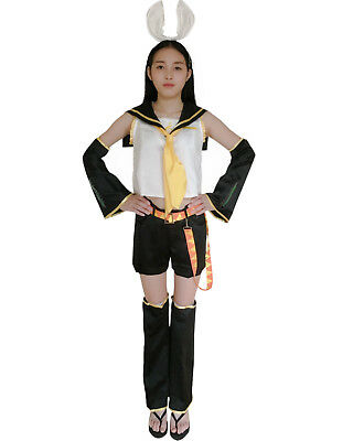 Vocaloid Family Mart Rin Cosplay Costume E001 Anime Costumes