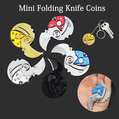Mini Protable Folding Coin Knife Pocket Knives Keychain Outdoor Survival Tool