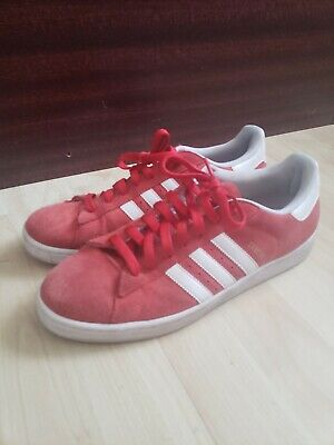 brand new 276de 21081 Adidas Campus Red Suede Mens 10 casual comfort shoes vulc skate